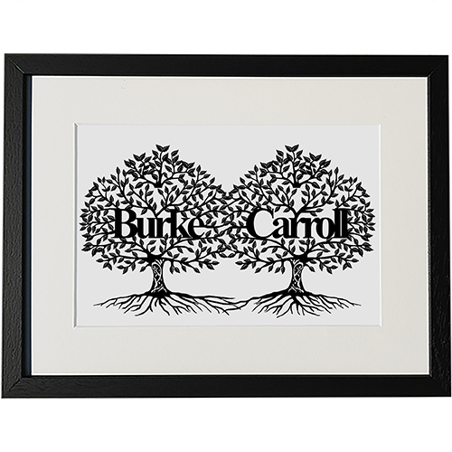The Signature Family Tree is a perfect gift for any occasion. The simple but detailed design allows all of your information to be captured elegantly within the leaves, creating a truly unique gift that will be cherished for generations.